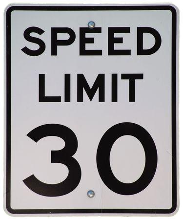 制限速度 30 記号 写真素材
