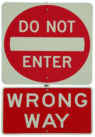 Do Not Enter - Wrong Way sign Stock Photo - 228960