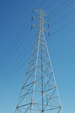 Power transmission tower, San Francisco Bay