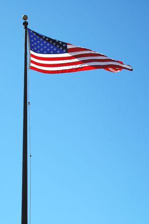 American flag in the breeze