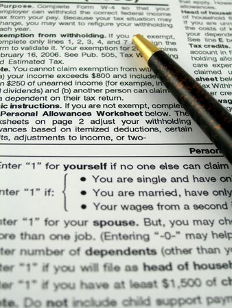 Withholding paperwork photo