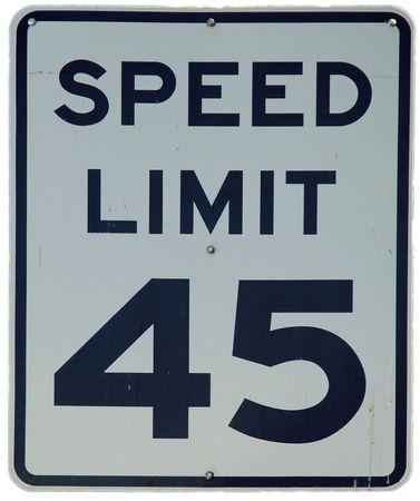 制限速度 45 記号 写真素材