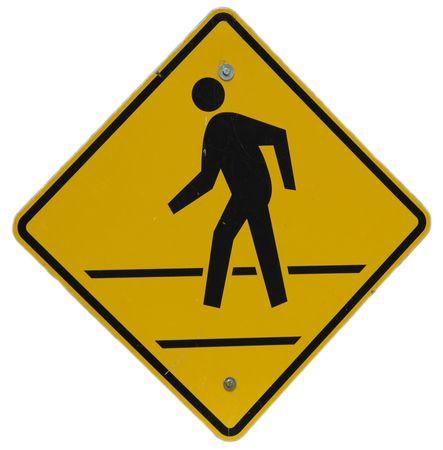 Pedestrian Crossing sign, Hoover Dam, Boulder City, Nevada Stock Photo