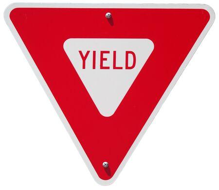 yield: Yield sign