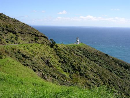 Cape Reinga Lighthouse, almost the northernmost point in New Zealand Stock Photo - 234348