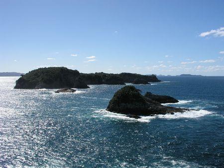 Offshore rocks, Mercury Bay, Coromandel Peninsula, New Zealand