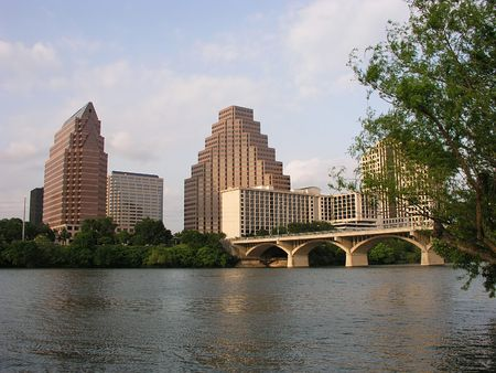 Congress Street Bridge in downtown Austin, Texas Stock Photo - 238157