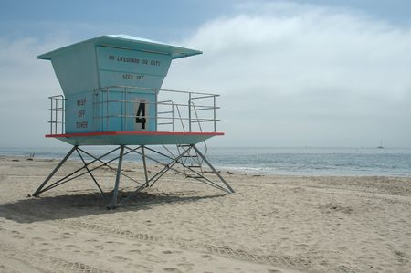 Lifeguard station, Santa Cruz Beach, California photo