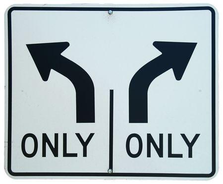 左右ターン車線記号
