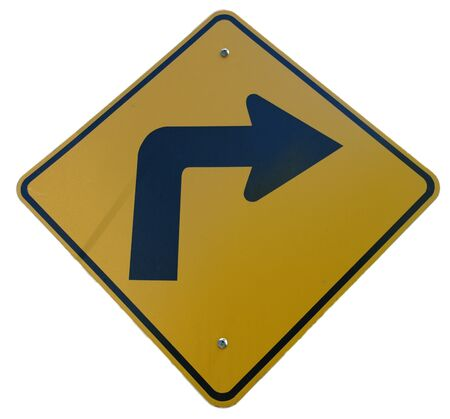 Road Curves Right sign Stock Photo - 238184