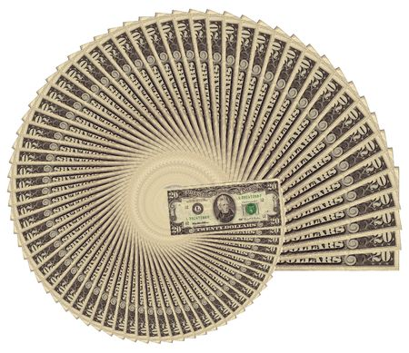 Spiraling inflation: $20 bills