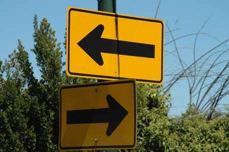 Left & Right Arrow signs