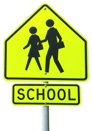 School Ahead sign photo