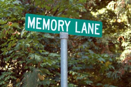 idioms: Memory Lane street sign Stock Photo