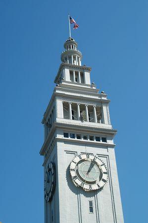 Clock tower, Ferry Building, San Francisco, California