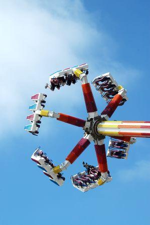 Carnival ride, Santa Cruz Beach Boardwalk, Santa Cruz, California photo