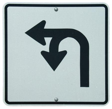 Left or U-Turn sign