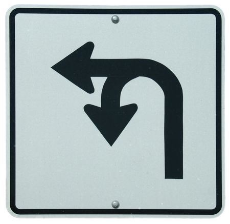 permitted: Left or U-Turn sign