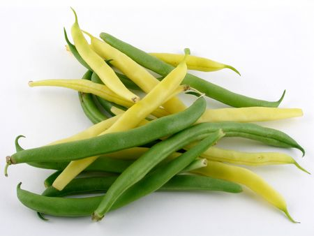 Green & yellow string beans photo