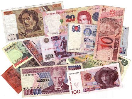 canadian cash: International currencies Stock Photo