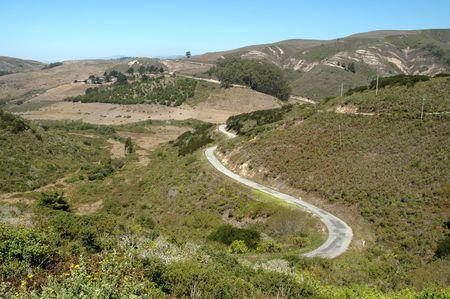 twisting: Twisting mountain road near San Gregorio, California