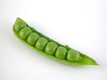 English garden peas in pod