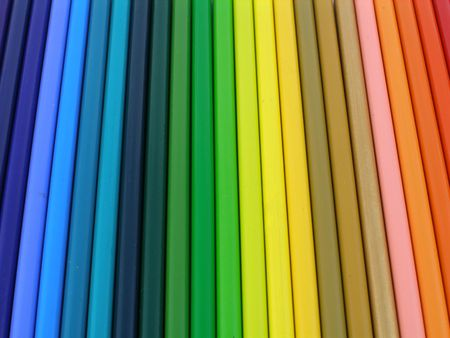 Rainbow colored pencils Stock Photo - 258911