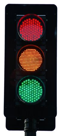 Traffic light - all lit photo