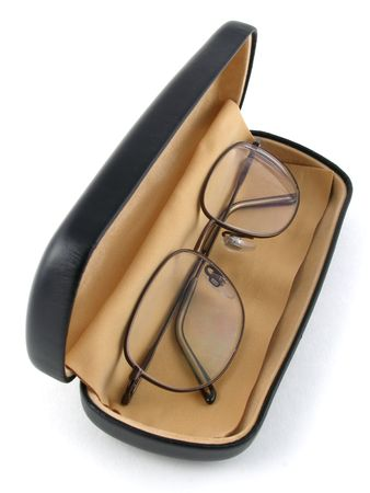 Eyeglasses in case Stock Photo