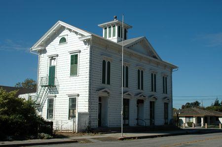 masonic: Masonic Lodge meeting hall - 1869, San Juan Bautista, California Stock Photo