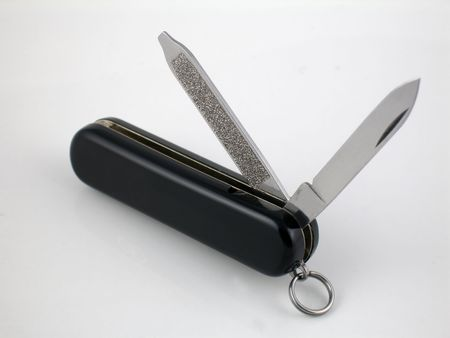 penknife: Penknife with blades exposed