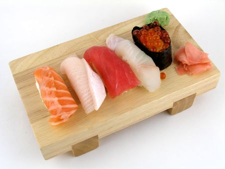 A selection of nigiri sushi photo