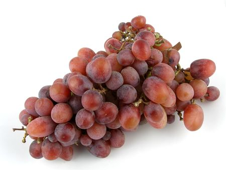 seedless: Crimson seedless grapes Stock Photo