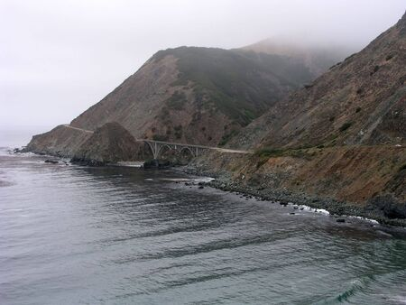 Fog along the coast near Big Sur, California