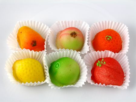 marzipan: Marzipan fruits Stock Photo
