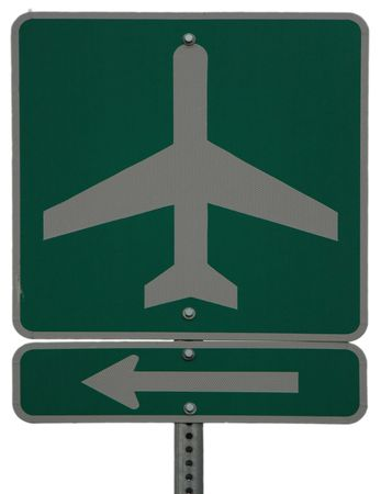 Airport Next Left sign photo