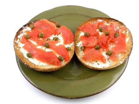 A breakfast of bagel & lox Stock fotó