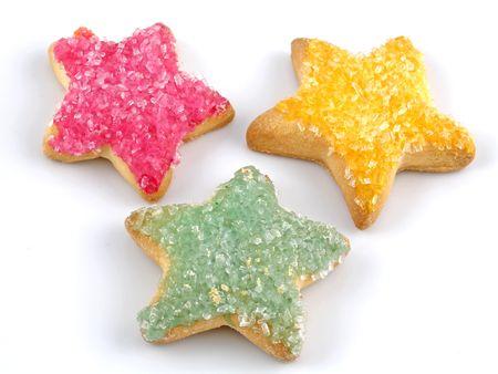 Star-shaped sugar cookies photo