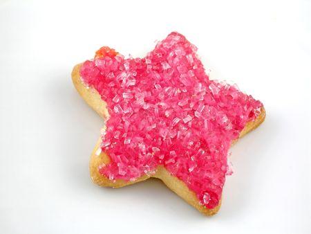 Star-shaped sugar cookie Standard-Bild