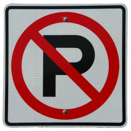 violaci�n: Ning�n Peeing (o no es quiz� ning�n estacionamiento) Foto de archivo