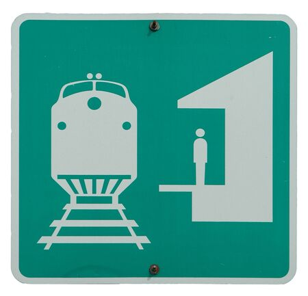 Railroad Station sign Stock fotó