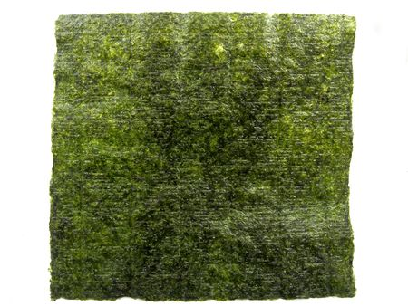 formed: A sheet of nori (Japanese seaweed)