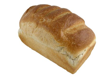unsliced: Loaf of white bread