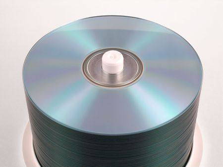 Stack of blank CD-R discs