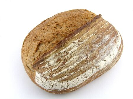Fresh baked loaf of rye bread
