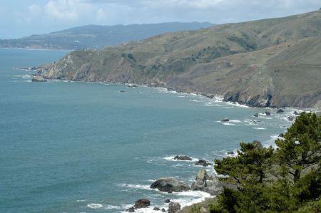 Pacific coast from Muir Beach, California