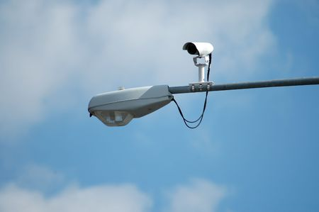 Streetlight with traffic camera Standard-Bild