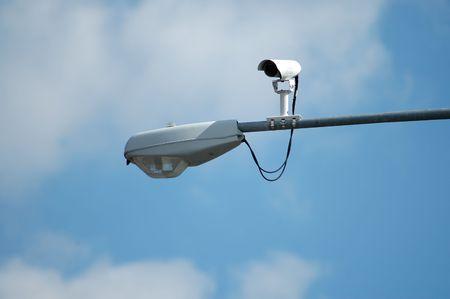 Streetlight with traffic camera photo