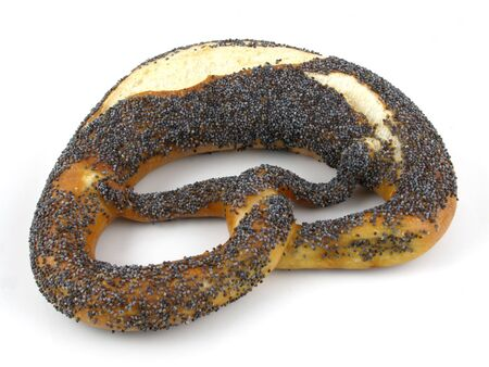 pretzel: Poppy seed coated twist pretzel