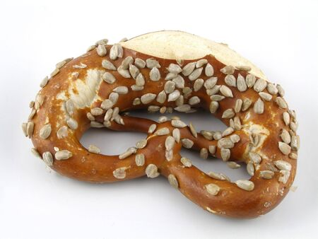 pretzel: Sunflower seed coated twist pretzel